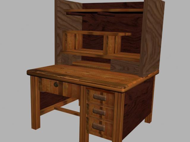 3d model desk drawers