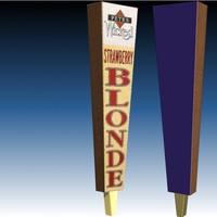 3d model tap handle wicked ale