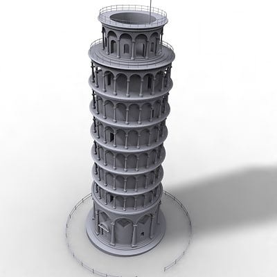 ing tower pisa 3d model