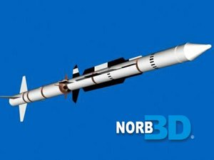 free standard rim missile 3d model