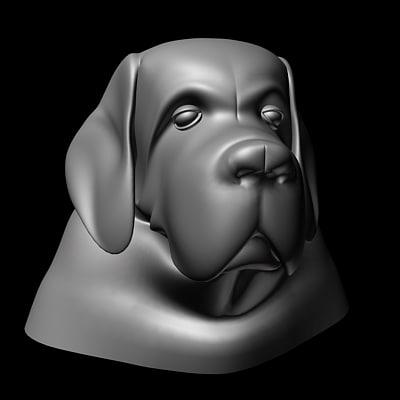 dog head 3d model