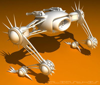 3d model battle mech
