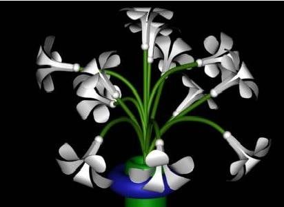 3d model bunch flowers