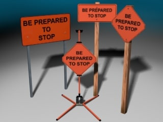 construction signs 3d 3ds