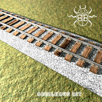 3ds max railroad tracks