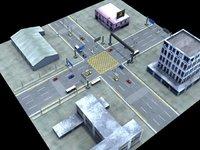 3ds max modular road street