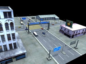 3d model modular urban environment