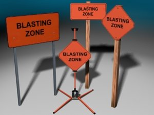 zone signs 3d model