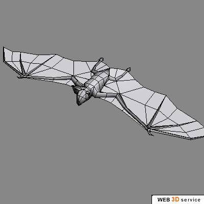 3d realistic bat