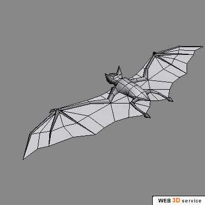 realistic bat 3d model