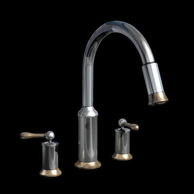 3d model kitchen faucet