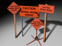 3ds max caution signal signs
