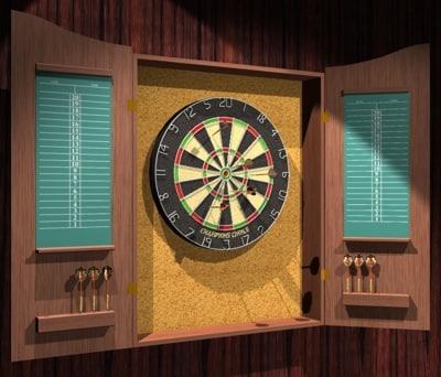 3ds max dart board case