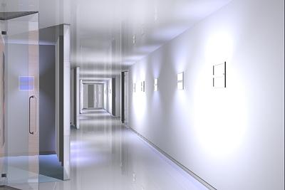 3d corridor passage model
