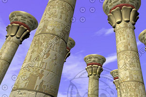 3ds max egyptian style column