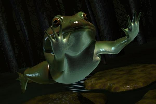 frog swamp 3d model