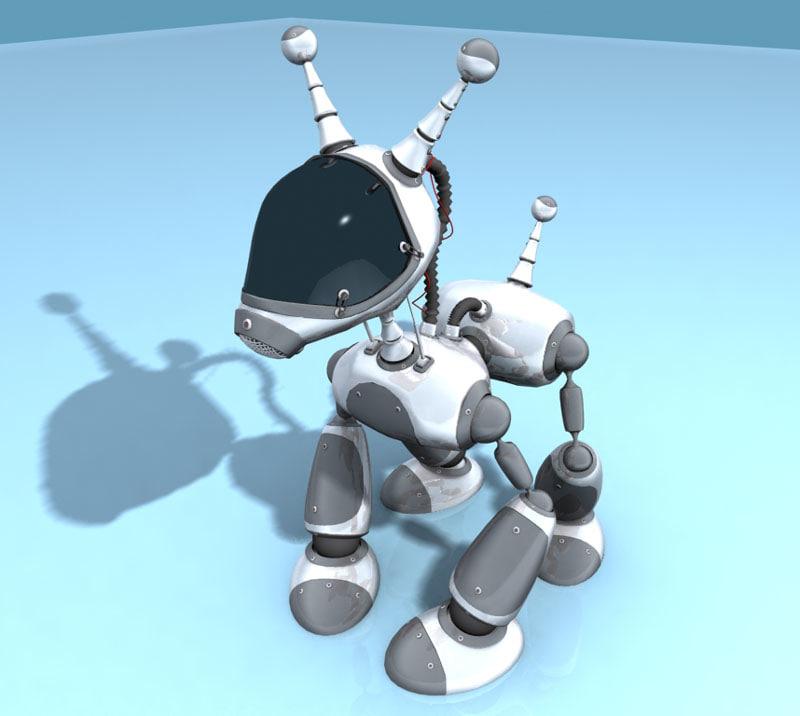 hi-tech robot 3d model