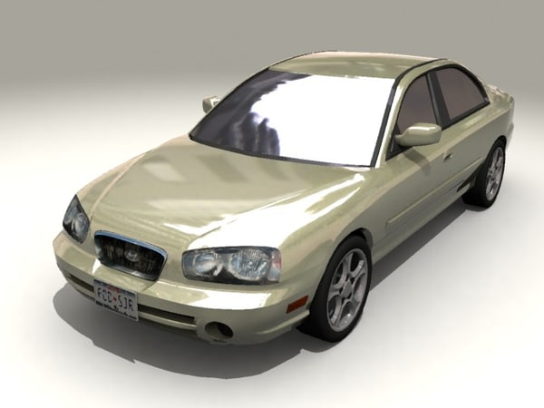 car 2003 hyundai elantra 3d model