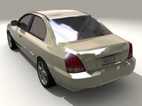 car 2003 hyundai elantra 3d model