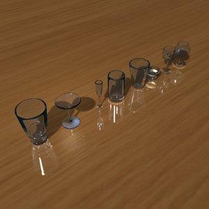 stemware drinking glass 3ds