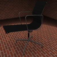 aluminium group office chair 3d model