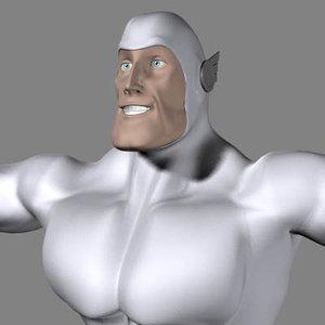 3d hero superhero male model