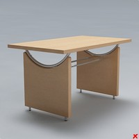 free table kitchen 3d model