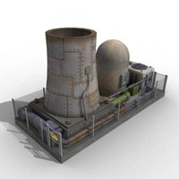 3d nuclear power plant armorquest model