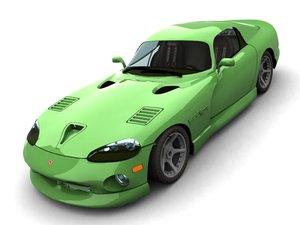 viper dodge gts 3d model
