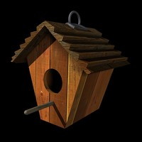 3d bird birdhouse house model