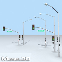 streetlights street lights 3d model