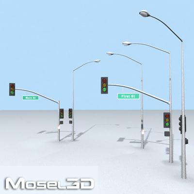 streetlights street lights 3d model