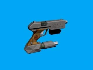 pistol weapon 3d 3ds