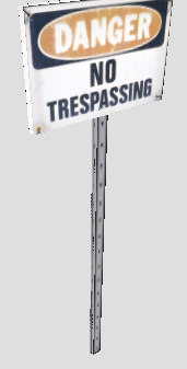 tresspass sign 3d 3ds
