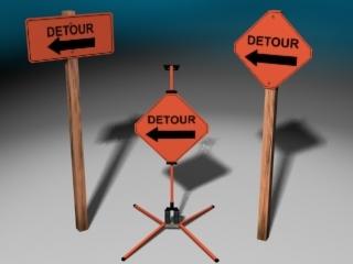 construction signs 3d max