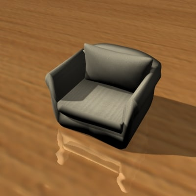 3d designed chair furniture