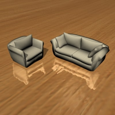 3ds max designed chair sofa furniture