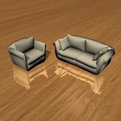 designed chair sofa furniture 3d max