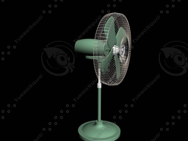 padestal fan 3d model