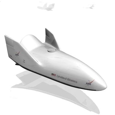 3d x-38 return vehicle model