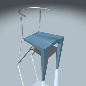 3d kartell dr glob chair