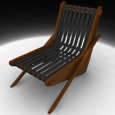 3d neutra boomerang chair