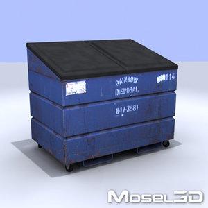 dumpster garbage 3d model