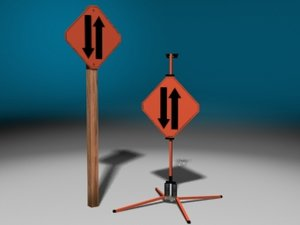 3dsmax construction signs
