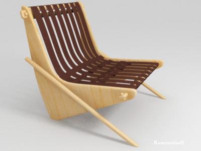 modeled chair neutra 3d model