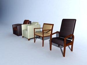 hospital furniture sleeper chairs 3d model