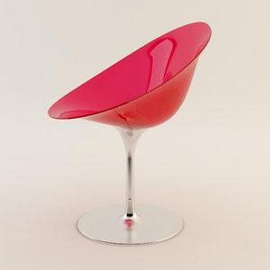 3d kartell ero s chair