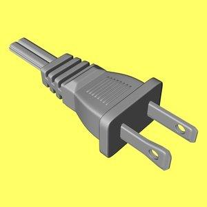 3d electric plug