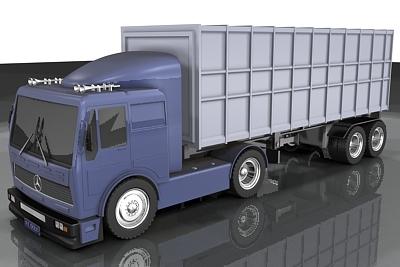 truck mercedes 3d lwo