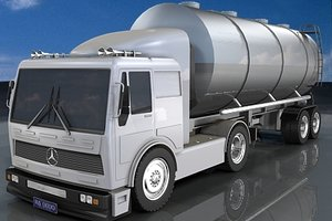 truck mercedes pickup 3d model